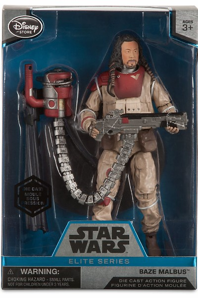 Hasbro Star Wars Elite Series Die Cast Rogue One Baze Malbus Fig